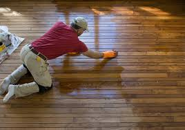 Staining floors